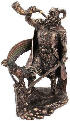 Norse God Heimdall Guardian of the Bifrost Statue