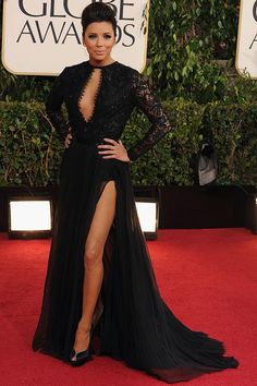 Eva Longoria at the Golden Globe Awards 2013.
