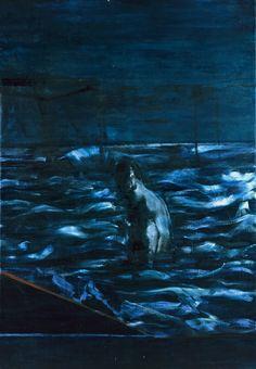 Francis Bacon, Figure in Sea, circa 1957. Oil on canvas.