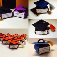 Personalized Graduation Favor Boxes Graduation by DreamsByTheRiver