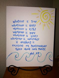 whatever is true canvas on Etsy, $6.00