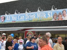 Minnesota State Fair.  Who could pass up all you can drink milk???? Specially when it's the best milk ever!
