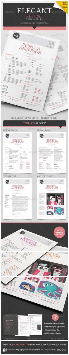 Elegant Resume/CV V1 - Resumes Stationery