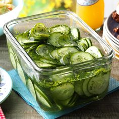 Fresh Cucumber Salad Recipe -Crisp, garden-fresh cukes are always in season when we hold our family reunion, and they really shine in this simple cucumber salad. The recipe can easily be expanded to make large quantities, too. —Betsy Carlson, Rockford, Illinois