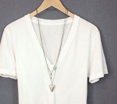 Detailed Arrowhead Necklace // Simple Long Necklace // Choose your length // Tribal Arrow Necklace