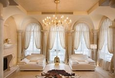 Drapes For Living Room Elegant.Modern Jacquard Luxury Curtains For Living Room European . Sheer Window Curtains For Modern Living Room Black Striped . Home Design Ideas Curtains For Arched Windows, Arch Windows, Window Curtains, Big Windows, Cream Curtains, Silk Drapes, Shaped Windows, Bedroom Windows, Drapery Panels