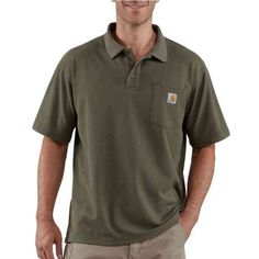 Carhartt Contractor's Work Pocket™ Blended-Pique Polo Shirt K570 | Mens and Womens Workwear at G&L Clothing