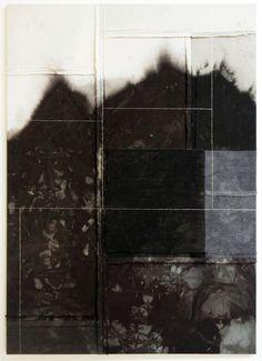 Alexander Wolff 1 & 2 Untitled, 2011 Fabric dye and thread on drop cloth