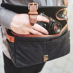 All Antoine Edel needs when going out for an impromptu photo shoot is his Leica M6 and Bowery bag.
