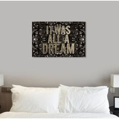 'It Was All a Dream Champagne' Textual Art on Canvas Oliver Gal Size: H x W Frames On Wall, Framed Wall Art, Harvest Songs, Canvas Art, Canvas Prints, London Skyline, Oliver Gal, Leonid Afremov Paintings, Painting Prints