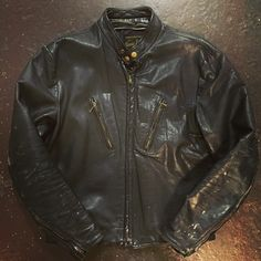 60's Passaic leather cafe jacket in our SF shop