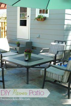 The Remodeled Life: Building a Patio - Part Three Diy Patio, Backyard Patio, Backyard Ideas, Outdoor Spaces, Outdoor Decor, Outdoor Ideas, Building A Patio, Yard Design, Patio Roof