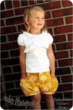 Bubble Shorts Girls Shorts Pattern Baby door PeekabooPatternShop