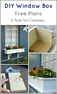 Free Diy Window Box Plans And A Giveaway