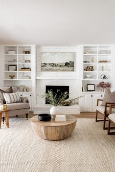 Living Room Area Rugs, Living Room Carpet, Rugs In Living Room, Home And Living, Living Room Decor, Home Fireplace, Living Room Fireplace, Home Office Space, White Home Decor