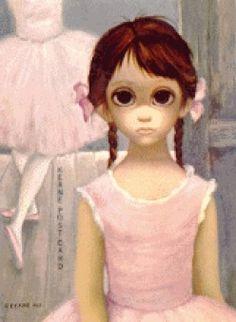 "Little Girl Ballerina with Huge Eyes - Walter Keane "" Walter Keane, Big Eyes Margaret Keane, Keane Big Eyes, Huge Eyes, Sad Eyes, Illustration Photo, Illustrations, Margret Keane, Keane Artist"