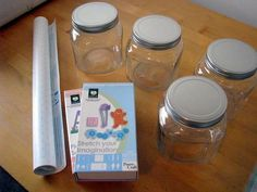 etched acid jars using the cricut.  Looks super easy may try.