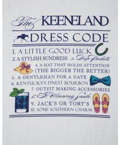 Southern Proper Keeneland Dress Code
