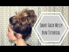 How to make a big fluffy messy bun when you have short hair:) Business inquires:., Summer Hairstyles, How to make a big fluffy messy bun when you have short hair:) Business inquires: Source by bonbonbcm. Messy Bun For Short Hair, Cute Messy Buns, Perfect Messy Bun, Messy Bun With Braid, Short Hairstyles For Thick Hair, Short Hair Updo, Bun Bun, Curly Short, Braided Hair