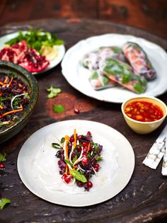Start with Vegan Summer Rolls   Jamie Oliver's Guide To Throwing The Perfect Dinner Party
