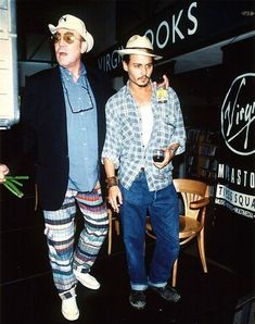 """Hunter S. Thompson & Johnny Depp """" hunter's nickname for johnny was """"colonel. Hunter S Thompson, Jacqueline Bisset, Donald Sutherland, Kennedy Jr, Hugh Laurie, Richard Gere, Robert Smith, Louis Armstrong, Phil Collins"""