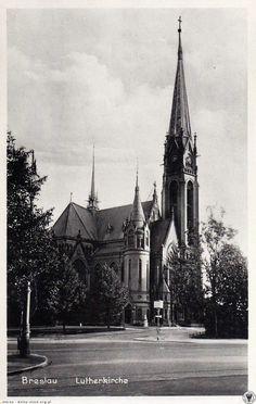 Monumentalny kościół Lutra, kiedyś stał przy pl. Grunwaldzkim...Lata 1935-1940