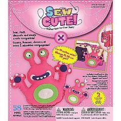 Westrim Sew Cute Monster Pink Craft Box Kit