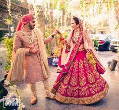 Buy Designer Indian Saree, Bollywood Collection of Anarkali Salwar Suits, Designer Gowns Pink Bridal Lehenga, Wedding Lehnga, Wedding Sherwani, Indian Bridal Lehenga, Indian Bridal Outfits, Indian Bridal Wear, Sherwani Groom, Punjabi Wedding, Couple Wedding Dress