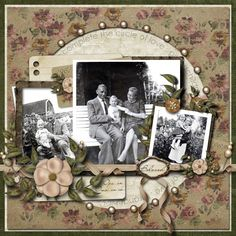 Heritage Scrapbook page ideas