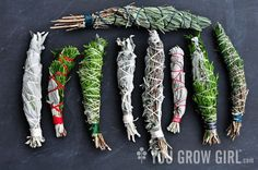 Naturally Healthy Remedies: How to make your own Homegrown Smudge Sticks Make Your Own, Make It Yourself, How To Make, Magia Elemental, Craft Font, Smudge Sticks, Fire Starters, Book Of Shadows, Herbal Medicine
