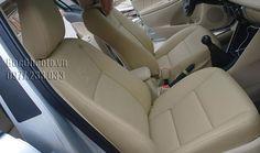 Mẫu Ghế Da Xe Toyota Vios -màu kem