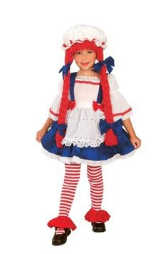 "Yarn Babies Girl Ragdoll Costume, Medium Rubie's Costume Co. $25.99. Dress with apron. polyester. Inspire imaginative play with a costume from Rubies. Tights old separately. Child's size Medium fits 50"" tall and 27"" waist. Made in China. Costume features hat with attached yarn hair. From the Manufacturer                Old fashioned Yarn Doll costume has hat with attached red braids and dress with apron.                                    Product Description            ..."