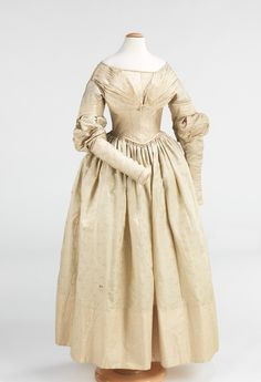Evening Dress, 1837-40, Brooklyn Museum Costume Collection at the Met