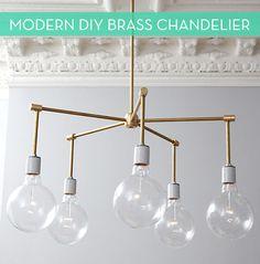 Make It: Modern DIY Brass Chandelier » Curbly | DIY Design Community