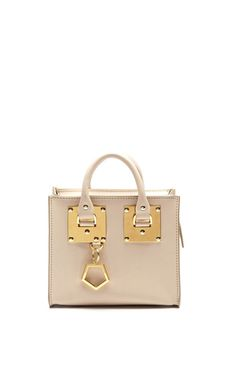 Box Tote Bag In Oat by Sophie Hulme for Preorder on Moda Operandi