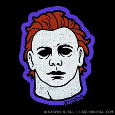 Retro inspired Halloween Home Decor & Apparel by Casper Spell. Halloween Prints, Halloween Movies, Halloween Horror, Halloween Art, Vintage Halloween, Halloween Backgrounds, Halloween Wallpaper, Michael Myers Maske, Mask Drawing