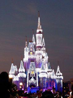 walt disney world 12 days! Disneyland here I come :D Christmas Cinderella's Castle at Walt Disney World abandoned Cinderellas Castle Walt Disney World, Disney Pixar, Disney Love, Disney Magic, Disney Parks, Disney Stuff, Disney Vacations, Disney Trips, Cinderella Castle