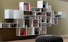 Loft Room Divider Ideas For Saving Money - Room Divider Ideas - Shelving Units Living Room, Hanging Room Dividers, Open Bookcase, Bookcase Design, Bookshelf Design, Cube Bookcase, Room Divider, Shelving Unit, Room Shelves