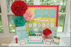 Summer Soiree by Schoolgirl Style.  Classroom themes, bulletin board ideas, decor, and classroom organization.  www.schoolgirlstyle.com