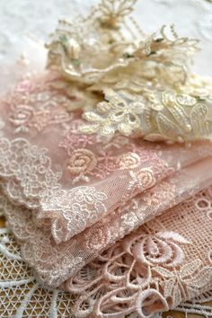 ~dentelle amour ~ love of lace~ The love of lace, the delicate, the feminine. ❤ ~ would love to have a little of this back In my life again.the romantic side! Lace Ribbon, Lace Ruffle, Pink Lace, Ruffles, White Lace, Blush Pink, Tulle Lace, Beaded Lace, Lace Fabric