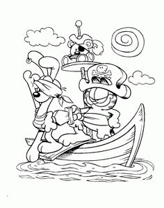 Garfield Captain Pirate Coloring Page - Garfield Coloring Pages