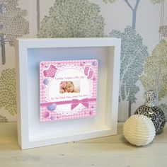 TWINKLE TWINKLE Little Star Shadow Frame Photo Frame New Baby Girl Christening