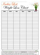 Free Printable Body Measurement Chart | Weight Loss for weekly and monthly measurements. Mark date and sizes ...