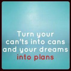 Dreams >> plans