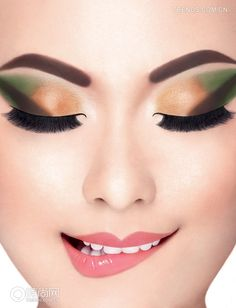 The bright summer makeup