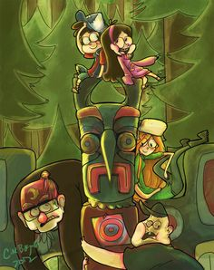 Gravity Falls-Totem Pole by ~sleepers-anonymous on deviantART