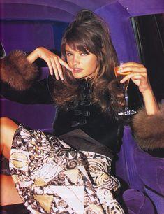 "https://flic.kr/p/JbWjTw | Vogue Italia ""La Notte Delle Stelle"" Sett. 1992 | Helena Christensen in Valentino Couture shot by Arthur Elgort"