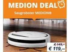 Medion: Staubsaugerroboter MD 16192 für 123,95 Euro frei Haus https://www.discountfan.de/artikel/technik_und_haushalt/medion-staubsaugerroboter-md-16192-fuer-12395-euro-frei-haus.php Er glänzt mit Top-Bewertungen, jetzt ist der direkt vom Hersteller für kurze Zeit rabattiert zu haben: Den Staubsaugerroboter Medion MD 16192 gibt es jetzt zum Schnäppchenpreis von 119 Euro plus Versand. Medion: Staubsaugerroboter MD 16192 für 123,95 Euro frei Haus (Bild: Medion.de) Der...