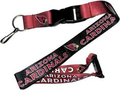 NFL Arizona Cardinals Team Logo Reversible Lanyard Keychain, Adult Unisex