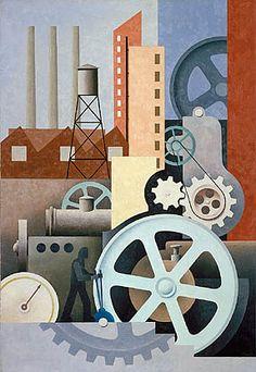 Machinery (Abstract #2) ca. 1934 Artist: Paul Kelpe
